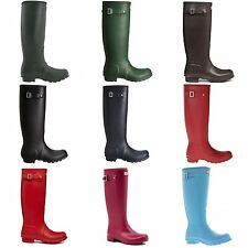 Hunter Wellington Boots Pull On Shoes Rubber for Women