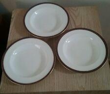 Tiffany & Co. New York 3 china dinnerware bowls multicolor Royal Doulton 1910's