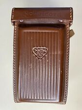 Brown leather carrying case with strap for Rolleicord TLR Va and Vb