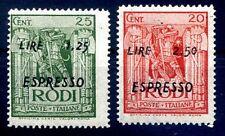 RODI EGEO - 1944  ESPRESSI  Serie nuova **
