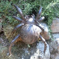 Froschkönig Frosch Gusseisen Krone Gartendeko Landhaus Kröte Garten braun TT10
