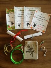 6 x tooth fairy notes certificates NEW CHRISTMAS EDITION & tooth fairy coin bag