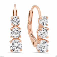 Leverback Rose Gold Fine Earrings