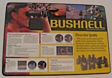 VINTAGE BUSHNELL SCOPES BINOCULARS ADVERTISING GUN CLEANING DISPLAY MAT / SIGN