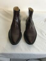 Rocco P Mens Brown Leather Zip Mid Calf Boots Size 43 Ref Ba19