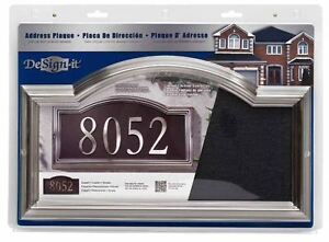 DeSign-it Brushed Nickel Elegant Arch Plaque w/ Assembly Instructions **NEW**