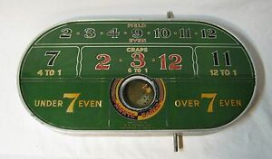 Vintage H. C. Evans Monte Carlo Game Trade Stimulator Gambling Dice Game