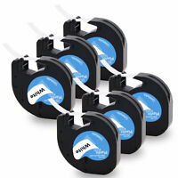 6PK LT91331 91201 Dymo Letratag Refill Compatible For Dymo Label Maker Tape 12mm