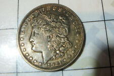 1921 US USA $1 coin Morgan SILVER DOLLAR old coins currency / less worn ungraded