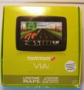 TomTom VIA 1400M GPS Mountable W/ charger Open Box. Preowned PLEASE READ DESCRIP