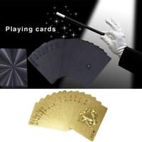 Golden Playing Cards Deck Magic Card Plastic Foil Poker Waterproof Cards Game