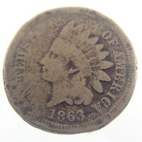 1863 United States Indian Head One 1 Cent Penny Circulated Coin S381