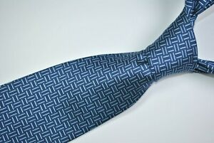 SEIGO NEW YORK Tie MADE IN JAPAN 100% Silk Blue Color L57 W3.5