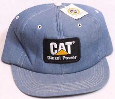 CAT Caterpillar Blue Denim Diesel Power Snapback Trucker Hat Men's One Size