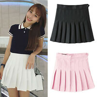 New Fashion Womens Slim Thin High Waist Pleated Tennis Skirts Mini Dress Playful