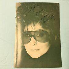 YOKO ONO LENNON AUTOGRAPHED & INSCRIBED Green Photo Card PC880