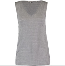 Bella Lux Grey V Neck Tank Top Size UK 4-6 rrp £16.99 DH170 KK 13