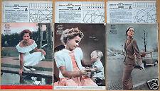 3x Mayers Schweizer Frauen- und Modeblatt Nr. 11+19+20/1951 mit Schnittmusterbog