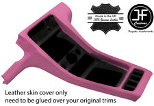 PINK REAL LEATHER CENTRE CONSOLE  COVER FITS PORSCHE 928 1990-1995 STYLE 3