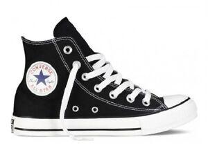 Scarpe Converse All Star Hi Alte Tela Uomo Donna Nero Black 36 37 38 39 40 41 42