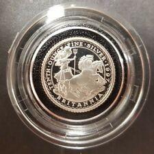 1997 Britannia Silver Proof Twenty Pence Coin 1/10 Oz COA Box