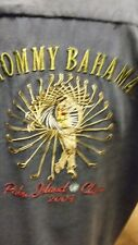 Tommy Bahama Palm Island Classic 2004 100% Silk Embroidered  Shirt L