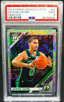 Jayson Tatum 2019-20 Panini Donruss Optic Fanatics PSA 9 Mint #82 Boston Celtics