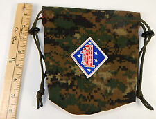 Military uniform Dice Bag with patch and unique lining - USMC 1st Division