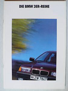 Prospekt BMW 3er E 36 (316i, 318i, 320i, 325i) zur Premiere, 2.1990, 50 Seiten