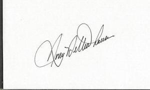 Tony Bettenhausen Jr Signed 3x5 Index Card