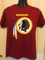 Washington Redskins T Shirt Jersey NFL Football New Majestic Red Yellow