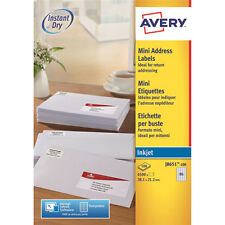 Av98978 Avery Mini Inkjet Address Label 65tv per Sheet PK 100 White J8651-100