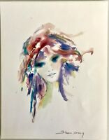 PARK WEST WATERCOLOR ART LITHOGRAPH PAINTING BY SHAN MERRY SIGNED IN PLATE w COA