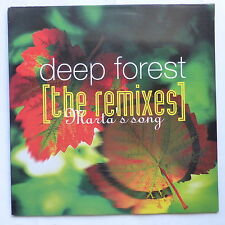 """MAXI 12"""" DEEP FOREST The remixes Marta ' s song COL 661361 6"""