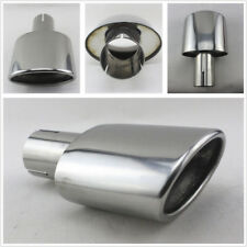 High Quality Stainless Steel Car Exhaust End Tip Pipe Oval Pipe Car-Styling New