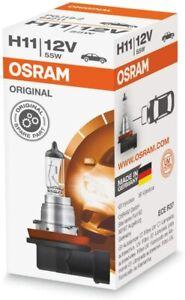 Osram H11 12V / 55W Halogen Headlight Bulb PGJ19-2 (1 x Globe)