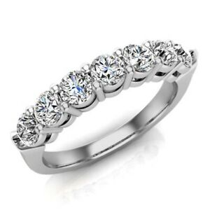 Sterling Silver 925 Plated Women's CZ Round Eternity Wedding Band Ring