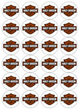 24 x Harley Davidson Edible Cupcake Toppers Birthday Party Cake Decoration