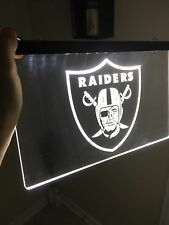 NFL LAS VEGAS RAIDERS LED Neon Sign for Game Room,Office,Bar,Man Cave. NEW!