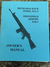 Heckler & Koch Model 91/G-3 Springfield Armory SAR-3 Owners Manual Reprint