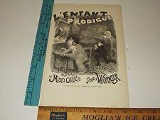 Rare Antique 1890 Adolphe Willette L'Enfant Prodigue Facsimile Poster Art Print