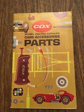 Vtg original Cox Model Racing Catalog Cars-Accessories Parts,Mint,model cars