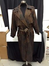 Womens Forecaster of Boston Long Brown Trench Rain Coat 13/14 Petite Outerwear