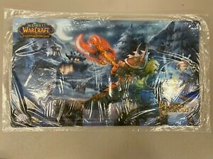 """WORLD OF WARCRAFT TCG HEROES OF AZEROTH PLAYMAT 13"""" x 23"""" BLIZZARD UPPER DECK*"""