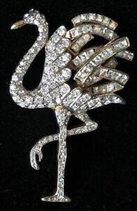 Vintage CAROLEE Limited Edition 1992 Duchess of Windsor FLAMINGO PIN~Crystal,FJT