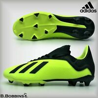 ⚽ SALE - Adidas X 18.3 FG SYELLO Football Boots Size UK 4 4.5 5 5.5 Boys Girls