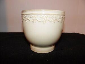 "Ceramic Stocky Vase 5"" Tall Beige."