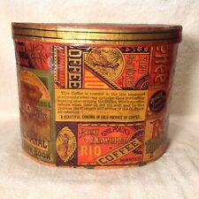 ANTIQUE WALL PAPER BOX DOCUMENT BOX BAND BOX COFFEE