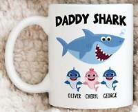 Bestseller Personalized Daddy Shark Mug Funny Fathers Day Gift For Dad