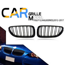 For F06 F12 F13 2012-2016 BMW M6 Look Front Grille Grill Gloss Black 640i 650i